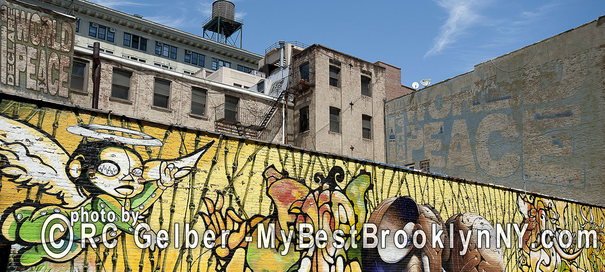 Murals in Dumbo, Brooklyn, NYC.