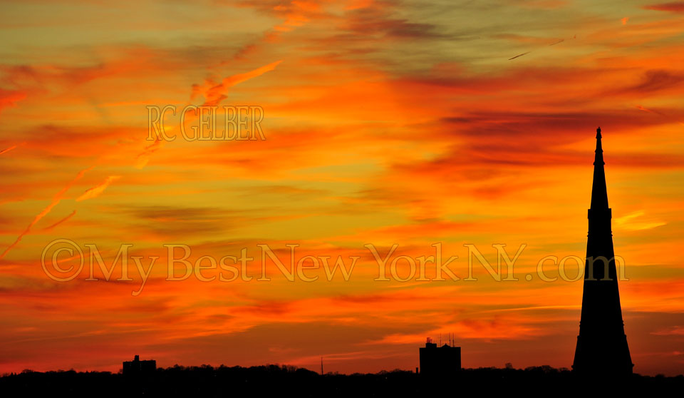 Glorious New York sunset