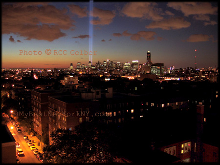 WTC towers of light, Manhattan